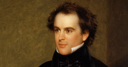 Illustration of Nathaniel Hawthorne