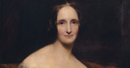 Illustration of Mary Shelley