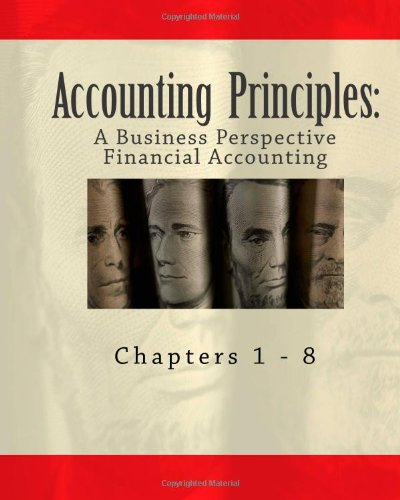 Large book cover: Accounting Principles: A Business Perspective, Financial Accounting