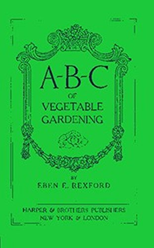 Large book cover: ABC of Vegetable Gardening