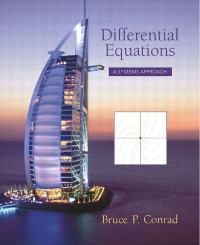 Large book cover: Ordinary Differential Equations: A Systems Approach