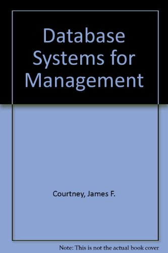 Large book cover: Database Systems for Management
