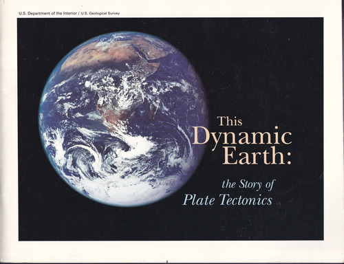 Large book cover: This Dynamic Earth: The Story of Plate Tectonics