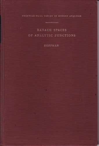 Large book cover: Banach Spaces of Analytic Functions