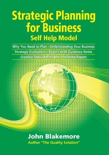 Large book cover: Strategic Planning for Business: A Self Help Manual