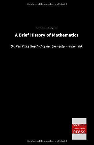 Large book cover: A Brief History of Mathematics