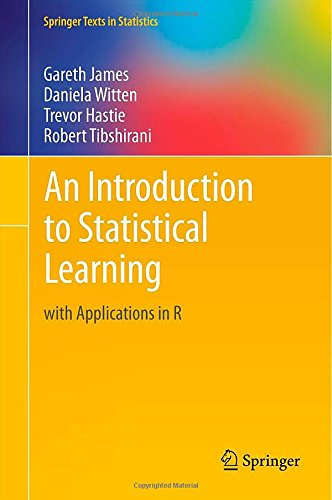 Large book cover: An Introduction to Statistical Learning