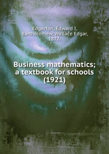 Large book cover: Business Mathematics: A Textbook