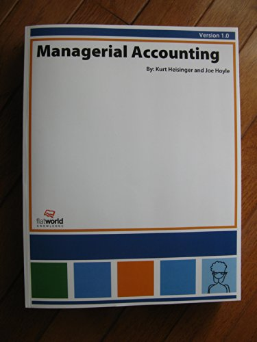 Large book cover: Managerial Accounting
