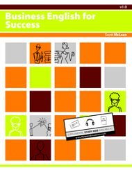 Large book cover: Business English for Success