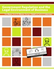 Large book cover: Goverment Regulation and the Legal Environment of Business