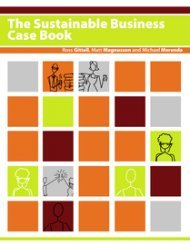 Large book cover: The Sustainable Business Case Book