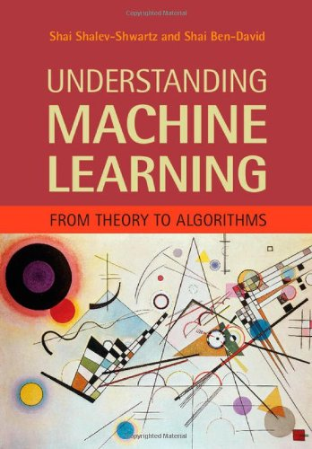 Large book cover: Understanding Machine Learning: From Theory to Algorithms
