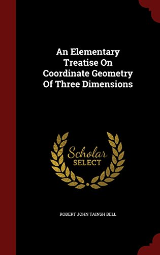 Large book cover: An Elementary Treatise on Coordinate Geometry