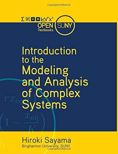 Large book cover: Introduction to the Modeling and Analysis of Complex Systems