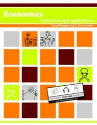 Large book cover: Economics: Theory Through Applications