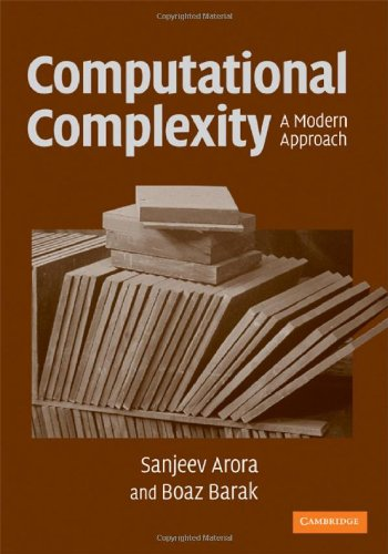 Large book cover: Complexity Theory: A Modern Approach