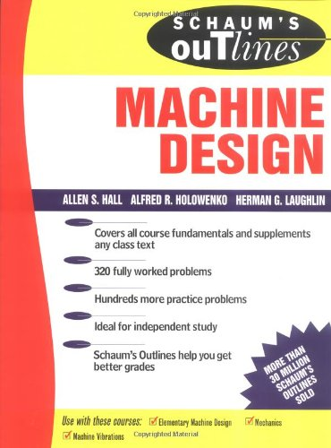 Large book cover: Schaum's Outline of Theory and Problems of Machine Design