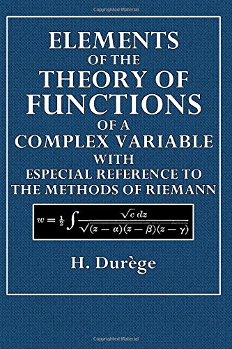 Large book cover: Elements of the Theory of Functions of a Complex Variable