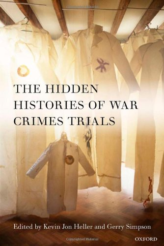 Large book cover: The Hidden Histories of War Crimes Trials