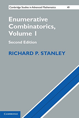 Large book cover: Enumerative Combinatorics: Volume 1
