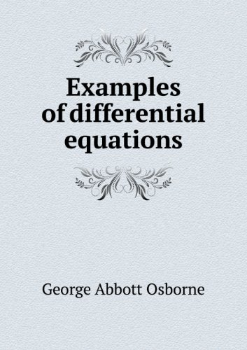 Large book cover: Examples of differential equations, with rules for their solution