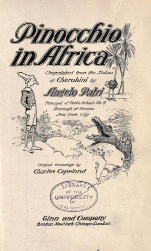 Large book cover: Pinocchio in Africa