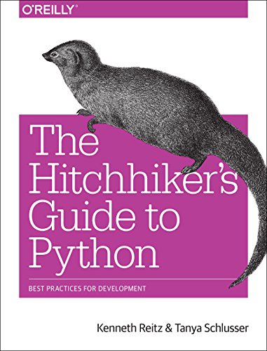 Large book cover: The Hitchhiker's Guide to Python