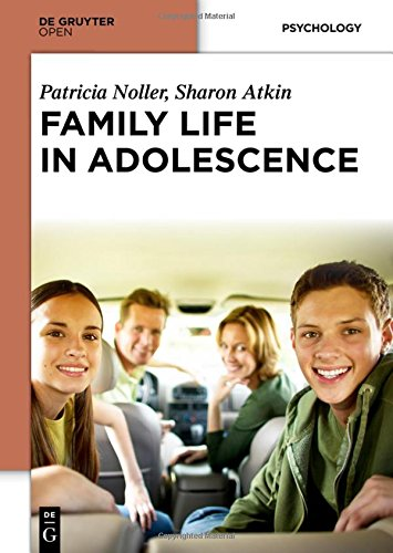 Large book cover: Family Life in Adolescence