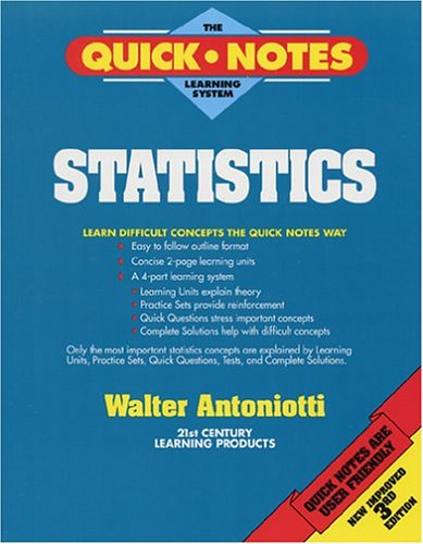 Large book cover: Quick Notes - Statistics