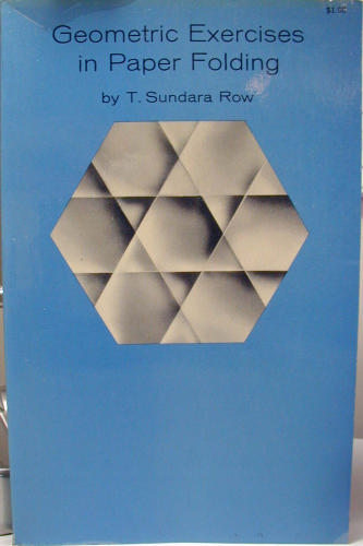 Large book cover: Geometric Exercises in Paper Folding