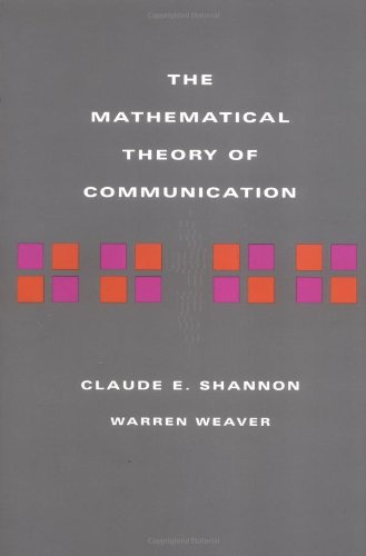 Large book cover: A Mathematical Theory of Communication