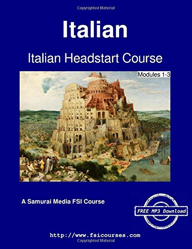 Large book cover: Italian Headstart Course