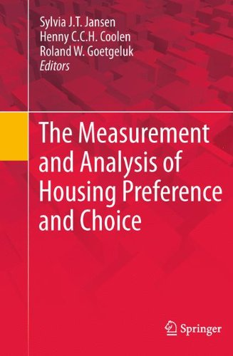 Large book cover: The Measurement and Analysis of Housing Preference and Choice