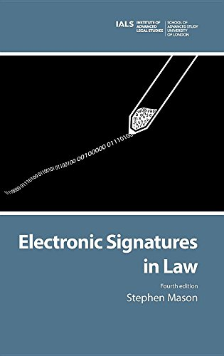 Large book cover: Electronic Signatures in Law