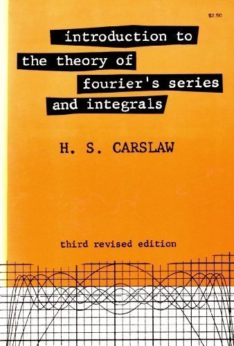 Large book cover: Introduction to the Theory of Fourier's Series and Integrals