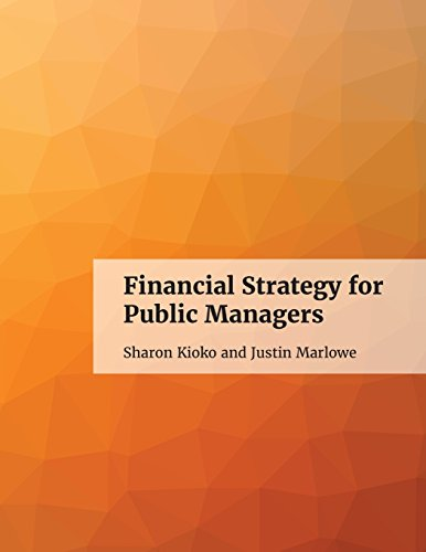 Large book cover: Financial Strategy for Public Managers