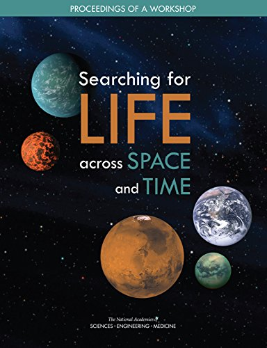 Large book cover: Searching for Life Across Space and Time