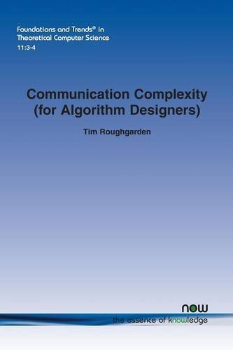 Large book cover: Communication Complexity (for Algorithm Designers)