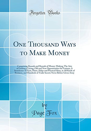 Large book cover: One Thousand Ways To Make Money