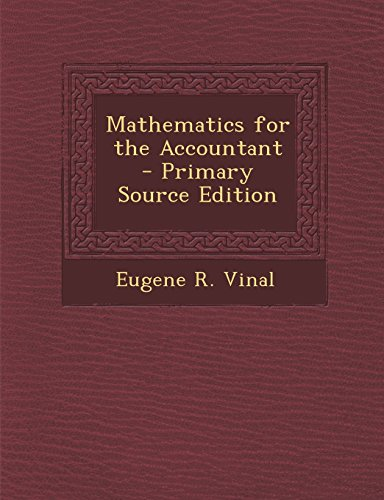 Large book cover: Mathematics for the Accountant