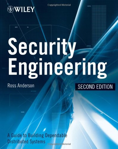 Large book cover: Security Engineering: A Guide to Building Dependable Distributed Systems