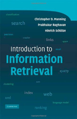 Large book cover: Introduction to Information Retrieval