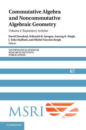 Large book cover: Commutative Algebra and Noncommutative Algebraic Geometry