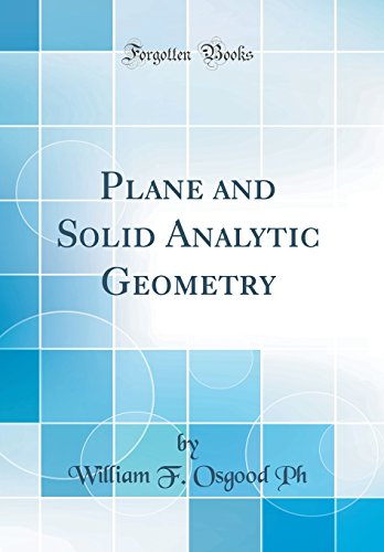 Large book cover: Plane and Solid Analytic Geometry