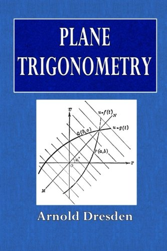 Large book cover: Plane Trigonometry