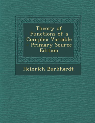 Large book cover: Theory of Functions of a Complex Variable