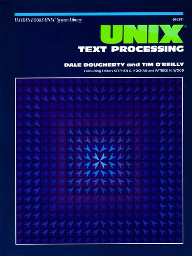 Large book cover: UNIX Text Processing