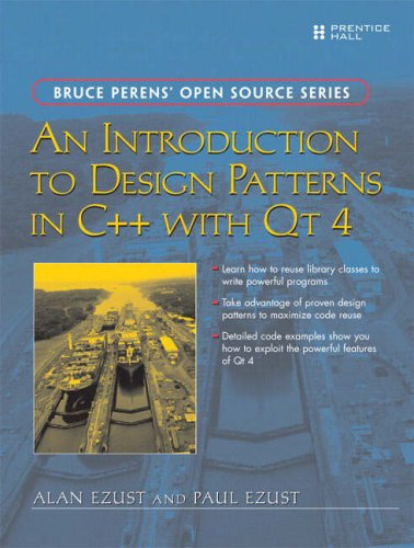 Large book cover: An Introduction to Design Patterns in C++ with Qt 4