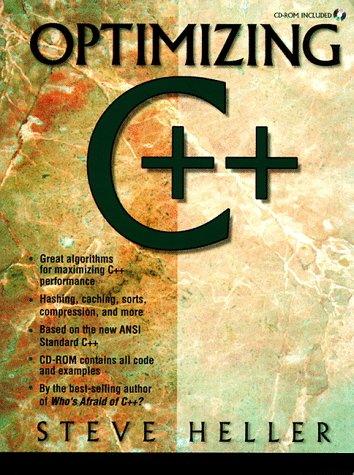 Large book cover: Optimizing C ++